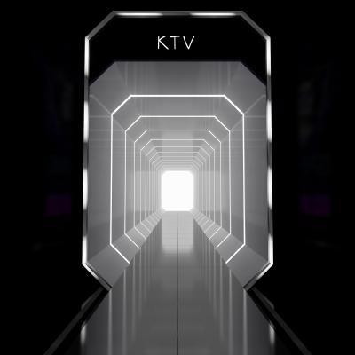 现代高级灰KTV过道3D模型【ID:843205169】