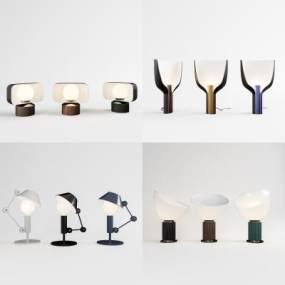 現代簡約臺燈組合3D模型【ID:850174142】