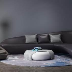 现代异形沙发3D模型【ID:630679938】