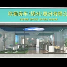 现代门头店面办公室3D模型【ID:135782248】