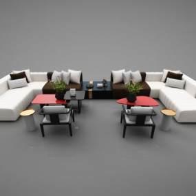 现代风格沙发3D模型【ID:652545776】