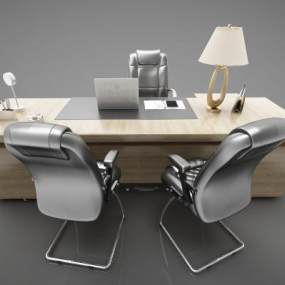 現代風格辦公桌3D模型【ID:950604180】