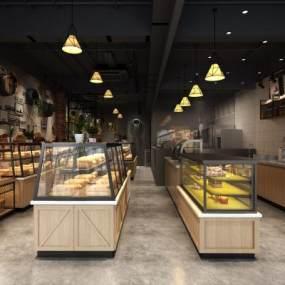 工业风甜品店3D模型【ID:634461442】