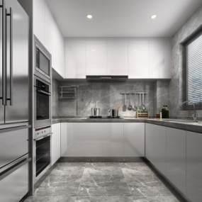 現代廚房3D模型【ID:534815390】