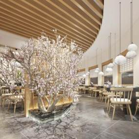 日式餐厅餐馆吊灯3D模型【ID:643461271】