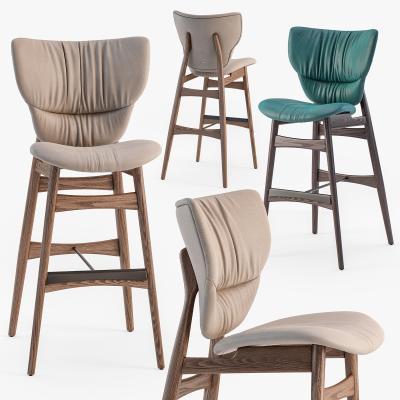 北欧实木吧台椅组合3D模型【ID:742742266】