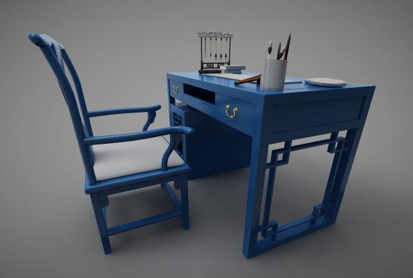 新中式风格书桌椅