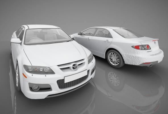 現代風格小汽車3D模型【ID:441855770】