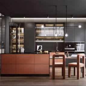 现代风格厨房3D模型【ID:553974338】