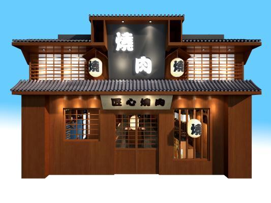 烧烤店门头3D模型【ID:630464215】
