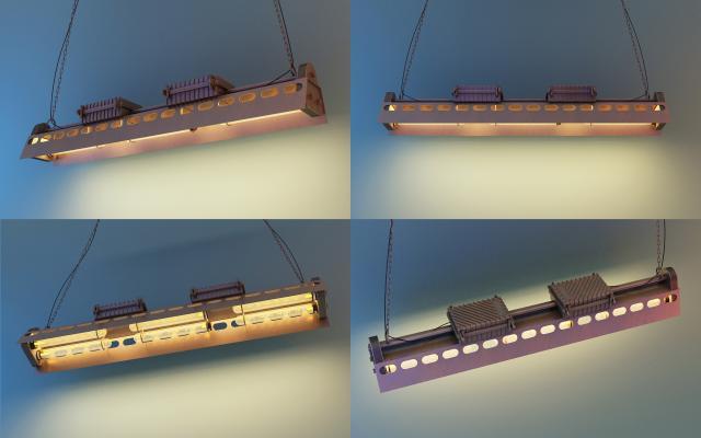 美式铁艺吊灯3D模型【ID:732837834】