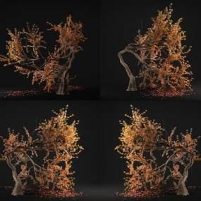 现代树木装饰3D模型【ID:235770851】