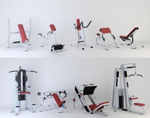 現代健身器材3D模型【ID:346334886】