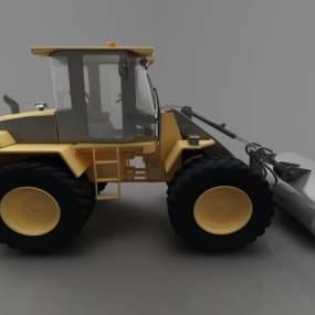 现代风格推土车3D模型【ID:443524631】