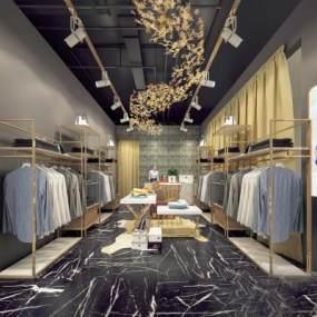 现代轻奢服装店3D模型【ID:149149059】