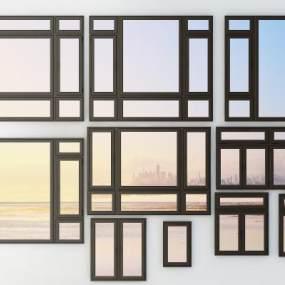 铝合金门窗3D模型【ID:342721275】