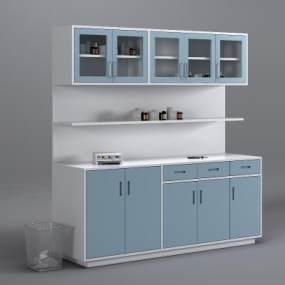 现代医疗处置柜3D模型【ID:152904822】