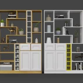 北欧酒柜3D模型【ID:653239228】