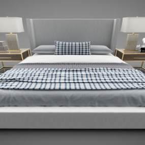 現代風格床具3D模型【ID:848861763】