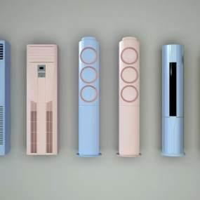 现代空调组合3D模型【ID:235302658】