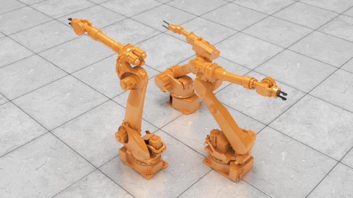 現代機械臂3D模型【ID:447081310】