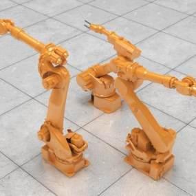 现代机械臂3D模型【ID:447081310】