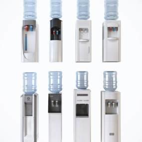 现代饮水机组合3D模型【ID:245247641】