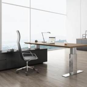 现代办公家具3D模型【ID:943449147】