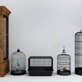 现代鸟笼组合3D模型【ID:234746509】