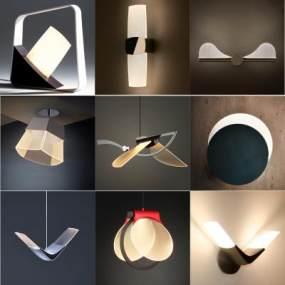 现代小吊灯3D模型【ID:747370822】