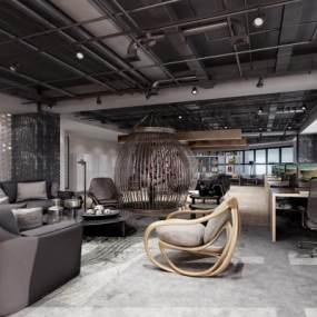 现代办公室3D模型【ID:952895044】