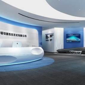 现代公司前厅3D模型【ID:952883275】