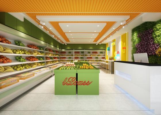 现代水果店3D模型【ID:142129190】