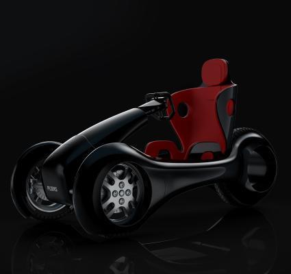 概念電動車3D模型【ID:440810773】