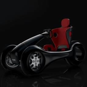 概念電動車 3D模型【ID:440810773】
