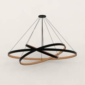 现代金属吊灯3D模型【ID:743554820】