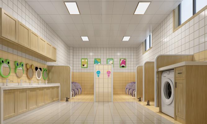 现代幼儿园卫生间