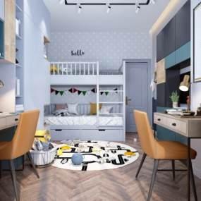 现代儿童房3D模型【ID:533730349】