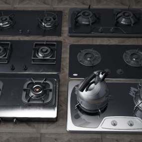灶台燃气灶3D模型【ID:232169869】