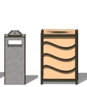 现代户外单桶垃圾箱【ID:650764632】