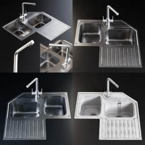 现代厨房3D模型【ID:249026867】