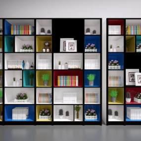 现代置物柜3D模型【ID:130686573】