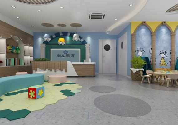 地中海幼儿园3D模型【ID:942340608】