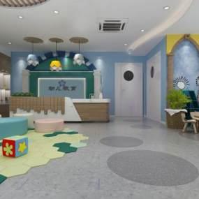 地中海幼儿园 3D模型【ID:942340608】