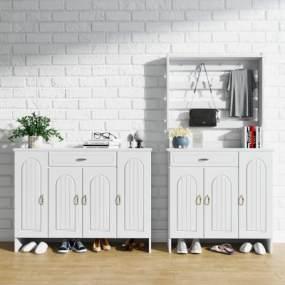 北欧鞋柜组合3D模型【ID:145405231】