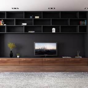 現代電視柜3D模型【ID:934744971】