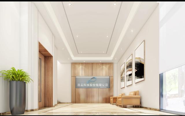 现代风格电梯厅3D模型【ID:743570648】