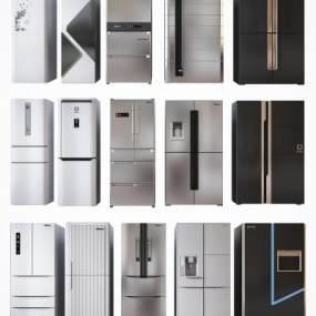 现代高档冰箱冷藏柜3D模型【ID:245244611】
