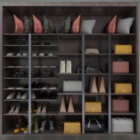 現代風格衣柜3D模型【ID:152548423】