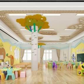 现代幼儿园3D模型【ID:934527663】